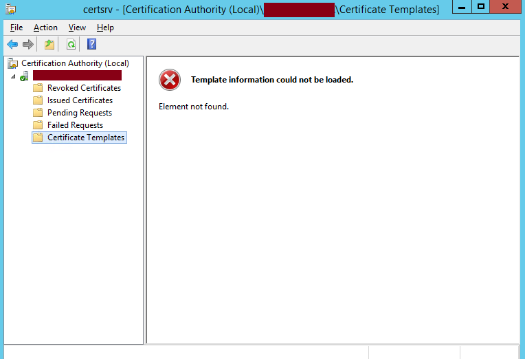 Ca template information could not be loaded element not found event id 44 yadclub Images