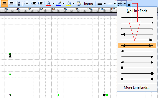 Drawing Lines With Arrows In Visio : Where do i find a double sided arrow similar to the data