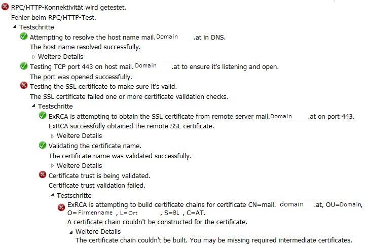 Zertifikatsfehler