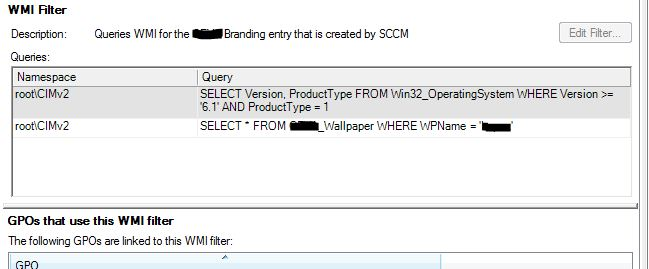 Multiple queries in WMI filter for GPO