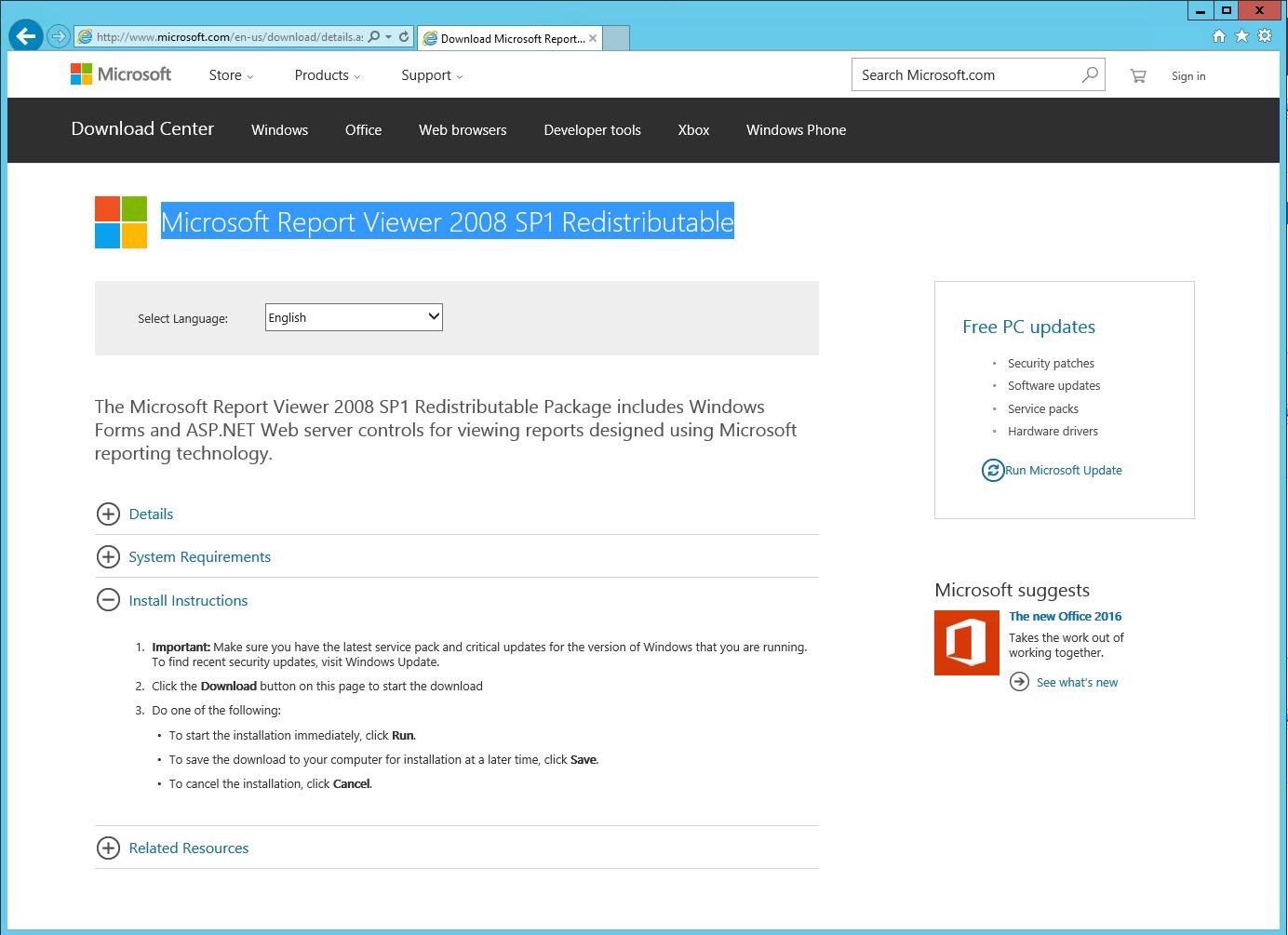 microsoft report viewer 2008 sp1 redistributable downloaden With microsoft viewer redistributable 2008
