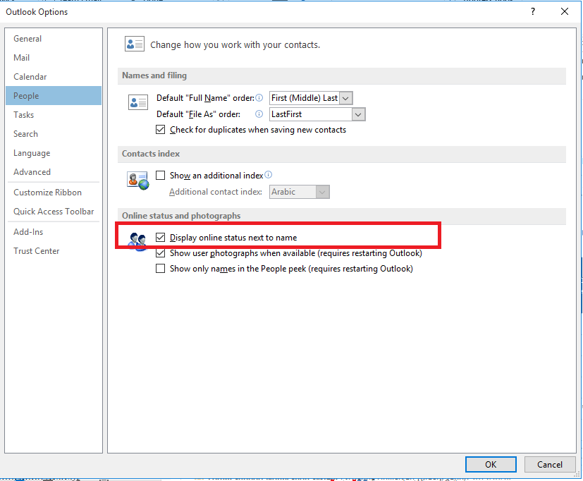 Lync status not updating with outlook calendar