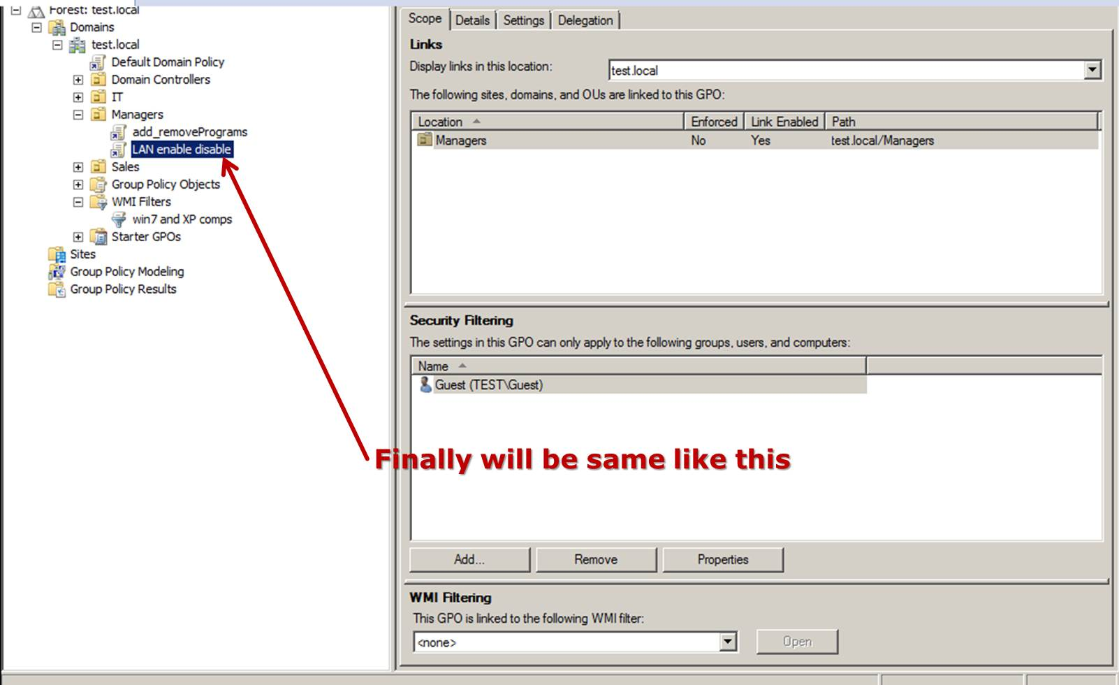 how to create group policy