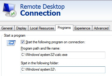 RDSH Workgroup 2012R2] initial program cannot be started