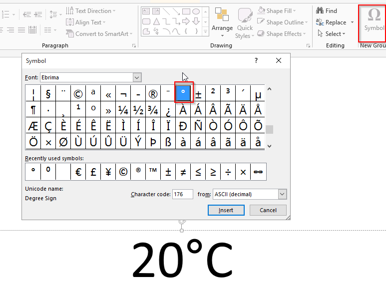Degrees In Microsoft Word Unitedijawstates