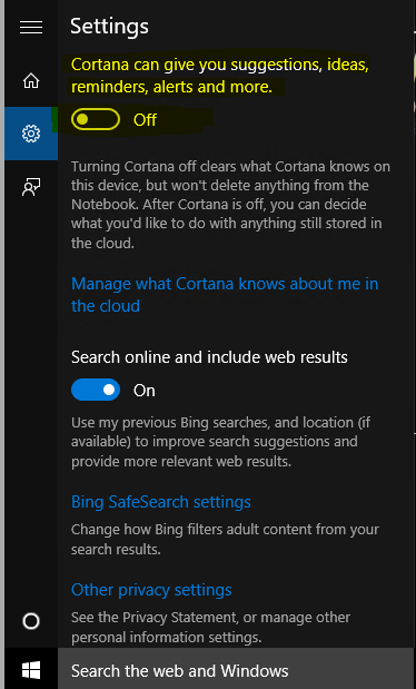 how permanently disable cortana