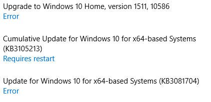 Windows updates will not install