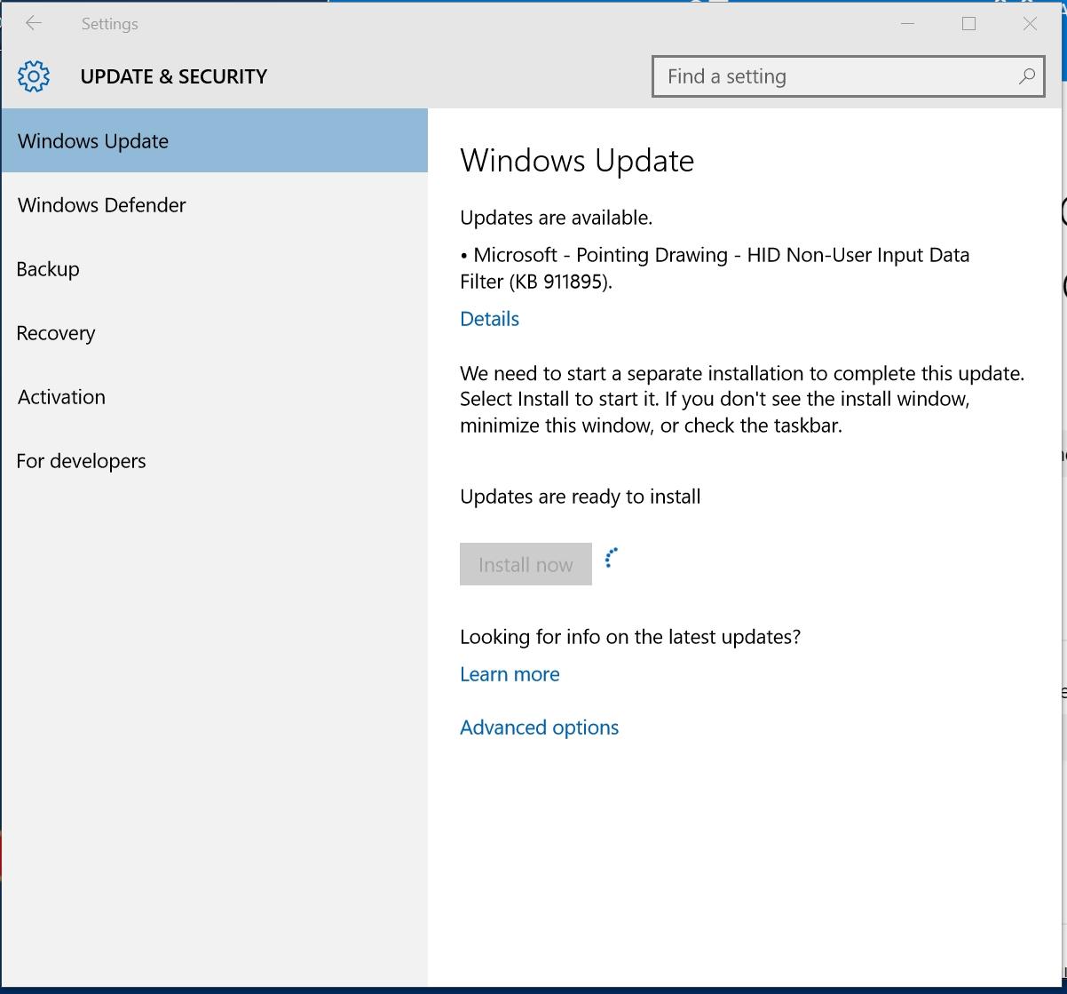 Windows 10 KB 911895