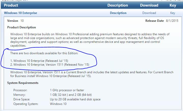 Windows 10 Enterprise Upgrade to version 1511 (10 0 10586)?