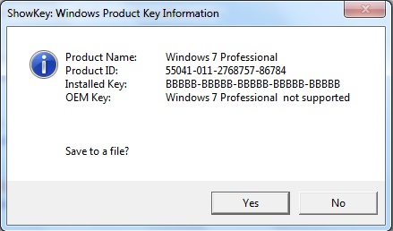 How to extract Windows 7 Product Key for a Windows 10 upgrade?