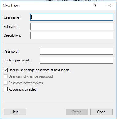 reset local user account password windows 10