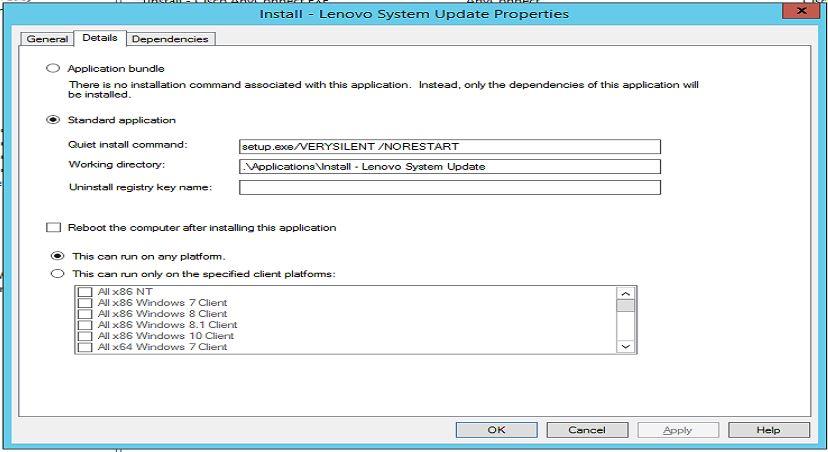 Return Code 2 - ThinkVantage System Update Deployment