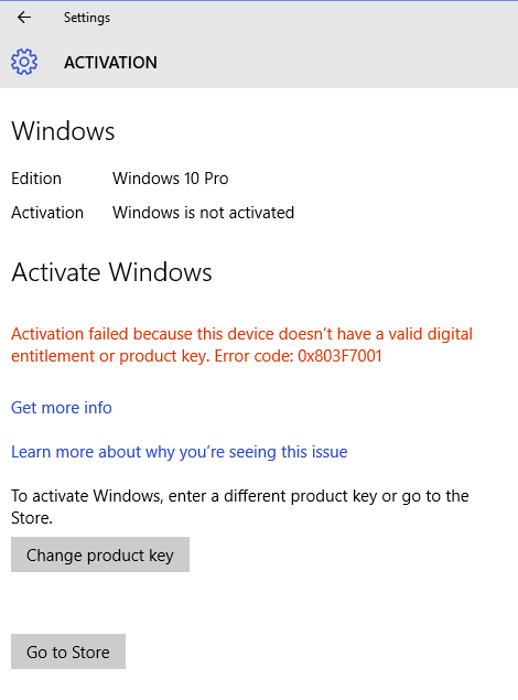 change windows 10 product code