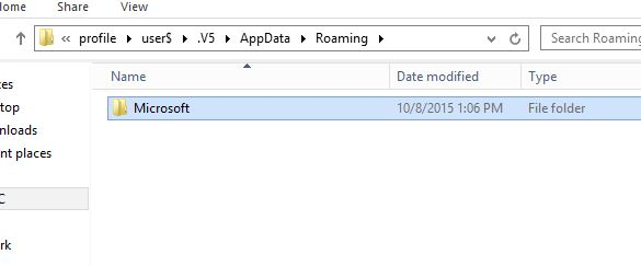 Missing 'Windows' folder in %AppData%\Roaming\Microsoft