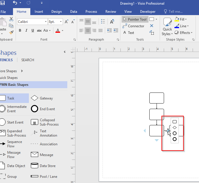based on my test this feature is still available in visio 2016 pro - My Visio