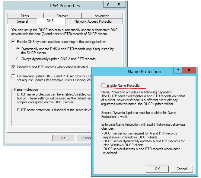 DHCP Migration / DNS Permissions