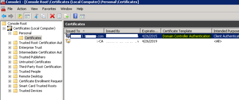 Renew domain controller authentication certificate article for your reference yelopaper Image collections