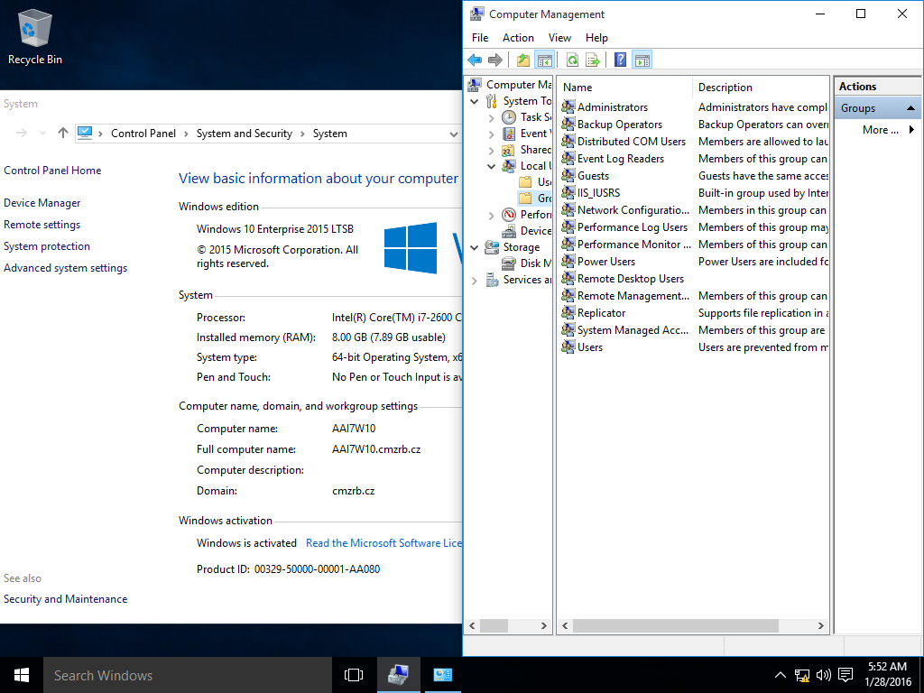 Hyper-V Administrators local group missing from Windows 10