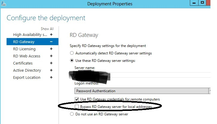 RDS 2012R2 Prompts for credentials to connect to broker when