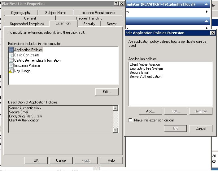Wired 802 1x CHAP authentication HP Procurve 2530 and
