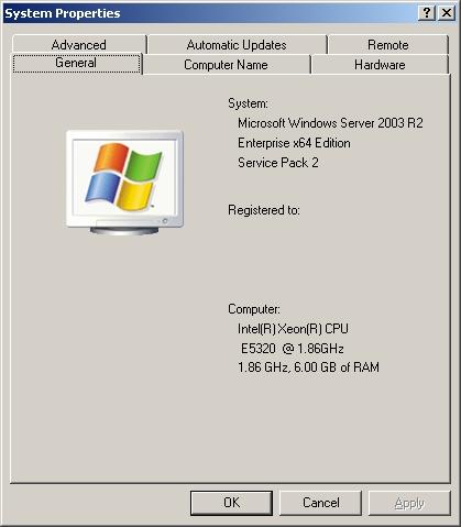WINDOWS 2003 X64