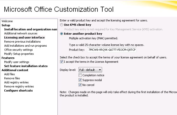 Visio Professional 2010 silent install not working