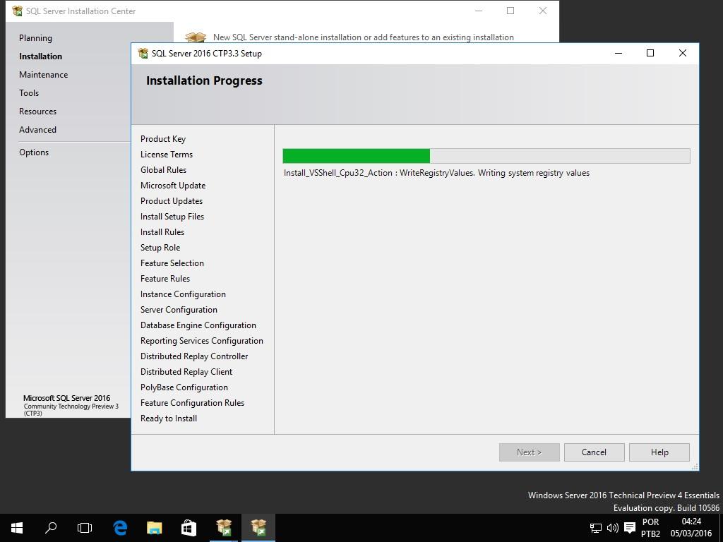 SQL Server 2016 Instalation
