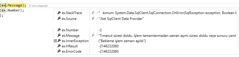 SqlException Error -2