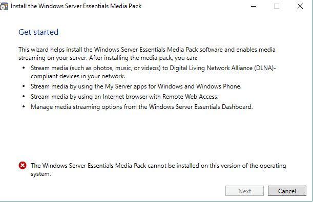 How to enable Windows Media Services in Windows Server 2016