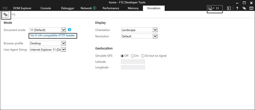IE10 Compatibility View default behavior