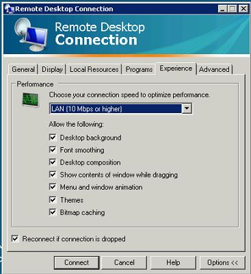 how to connect to another computer using remote desktop connection