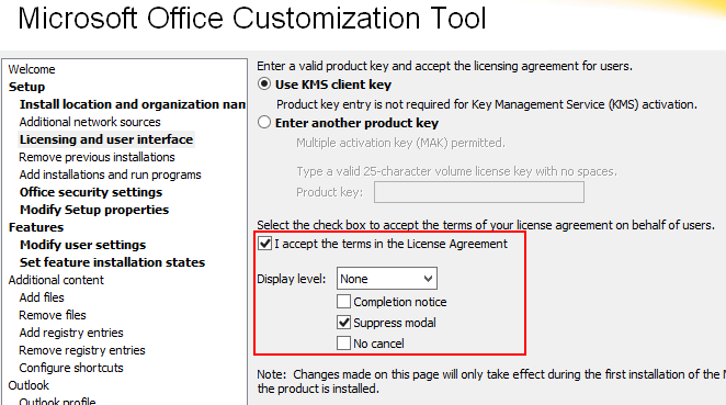 Installing Office 2016 via task sequence fails - Windows 10