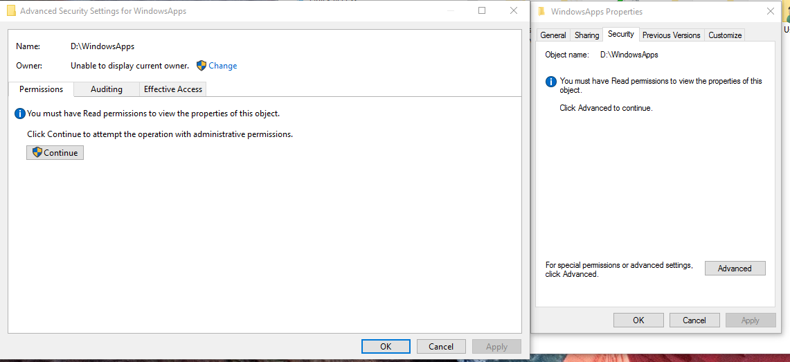 Windows folders appear on the wrong drive