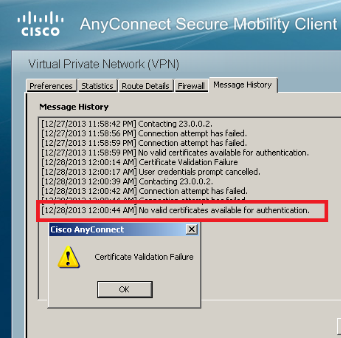 download certificate for cisco anyconnect vpn client