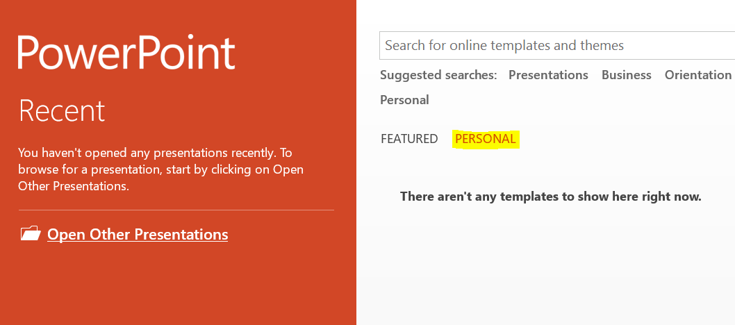 Where are ms office templates files how can i distribute custom then after you configure this personal templates location and put the templates in this location when powerpoint is opened users should see this toneelgroepblik Gallery