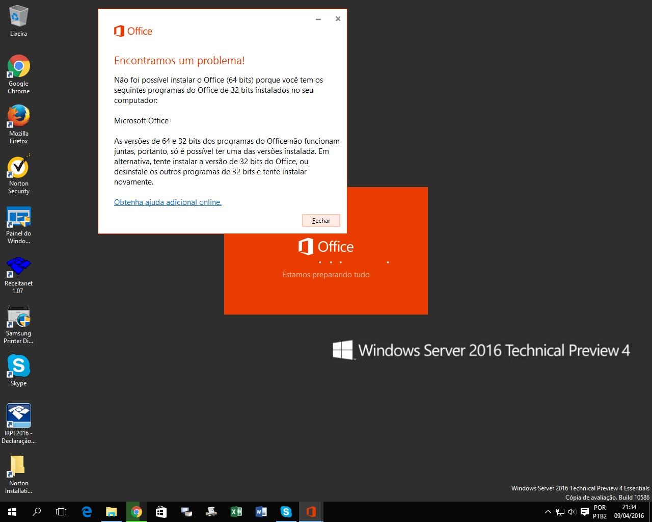 erro Office 365 x Visio