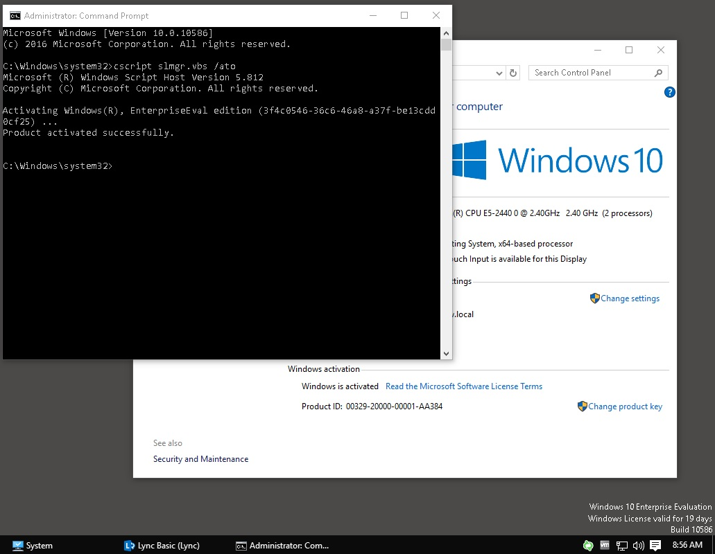 Windows 10 kms activation issue kms server is running on 2012r2 with kb3058168 installed windows 7 and 81 clients activate successfully ccuart Images
