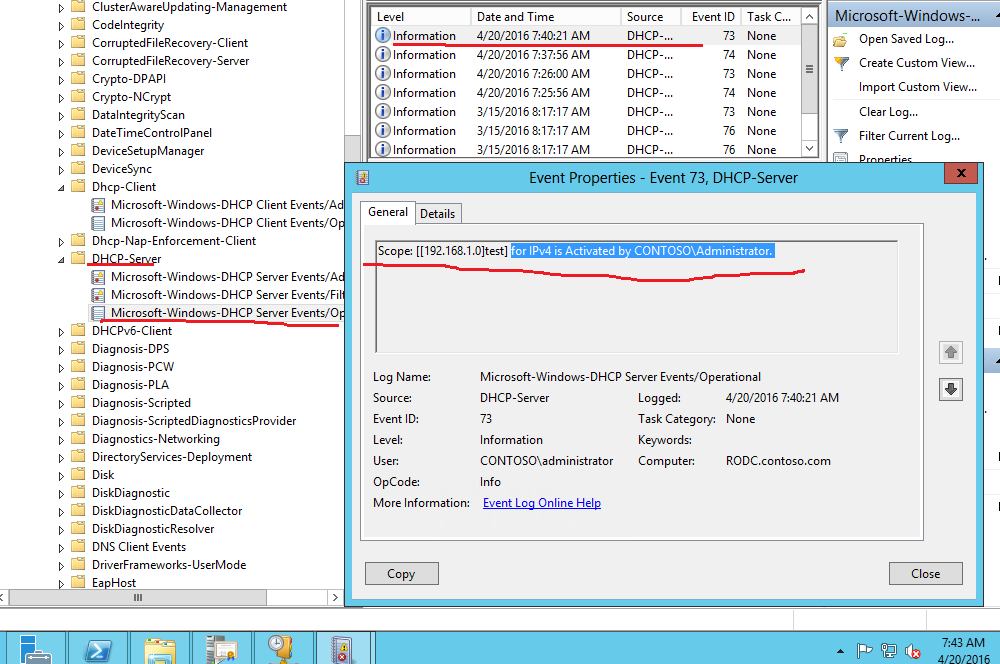 dhcp service in windows 2012 are deactivated