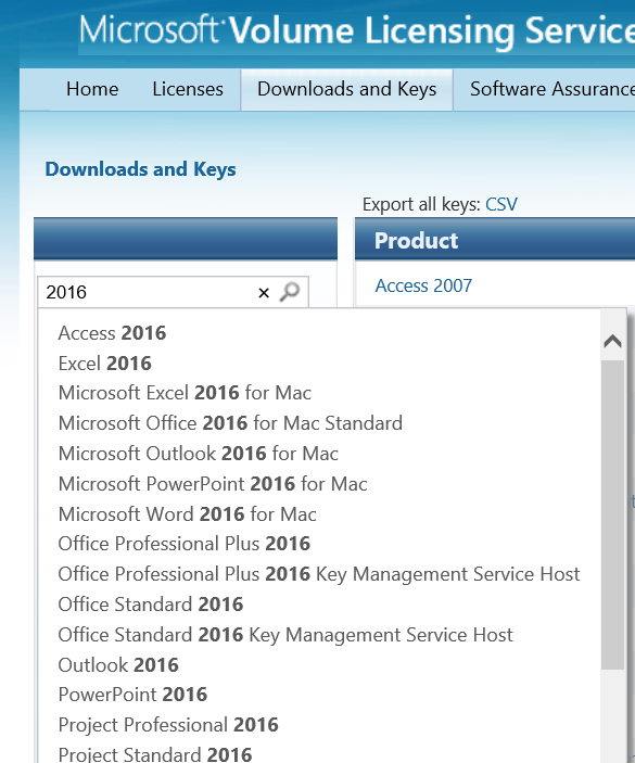microsoft office volume licensing login