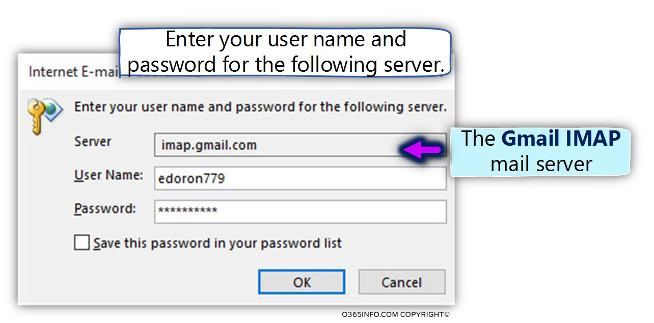 Outlook cannot connect to Gmail – Password re prompt | Part 1#3