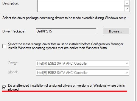 Windows 10 OSD Task Sequence not installing drivers
