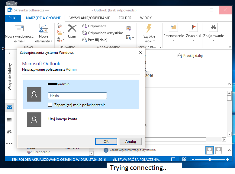 Cannot connect to Exchange 2016 using Outlook app