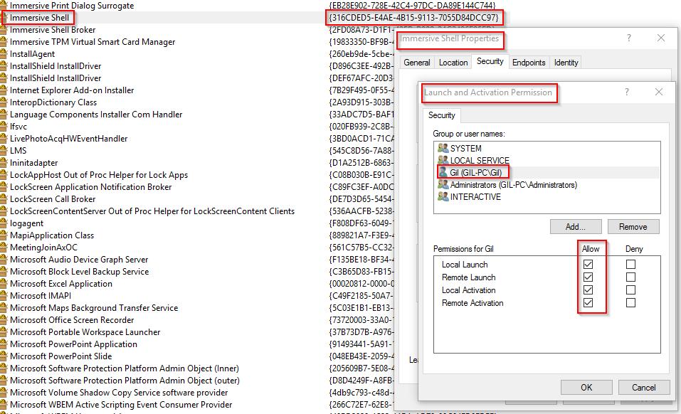 Can't fix Event 10016, DistributedCOM