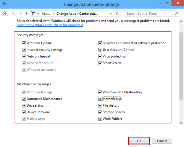 Disable only windows firewall notifications in Windows 10 with Group