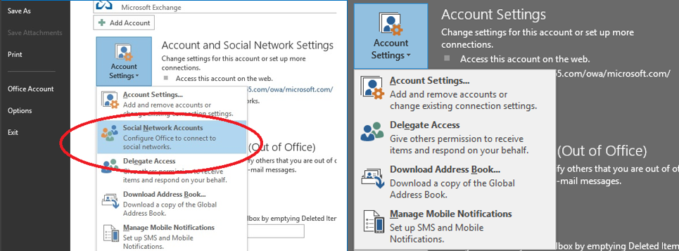 how to change outlook name display 2016