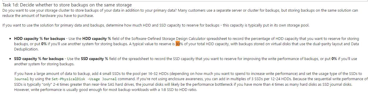 Windows 10 Storage Space Parity calculation