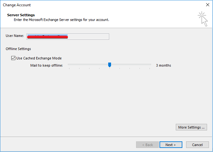 Outlook 2016 now uses the Exchange Search Index in priority
