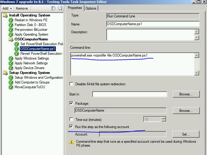 Deploy powershell script via SCCM