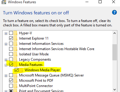 here is media playe for win 10