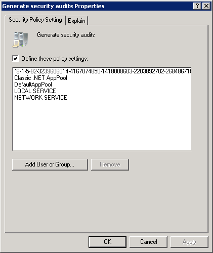 SIDs showing in Default domain controllers Group policy